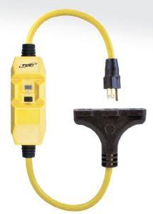 TRC Southwire GFCI, 15 Amps Manual Reset, 4-6mA, Tri_Tap Cord, 26020-148